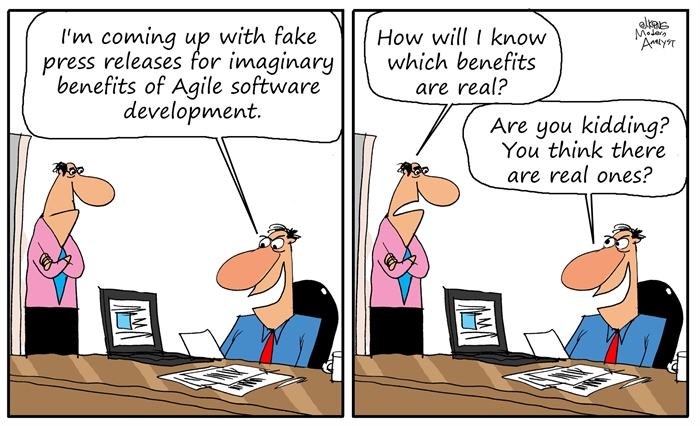 Humor - Cartoon: Real Benefits of Agile Development